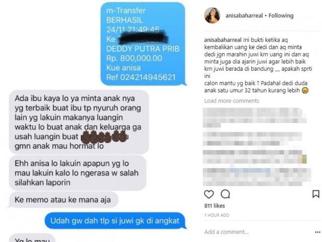 Anissa Bahar Bongkar Chatnya dengan Pacar Juwita: Apakah Seperti Ini Calon Mantu Yang Baik?