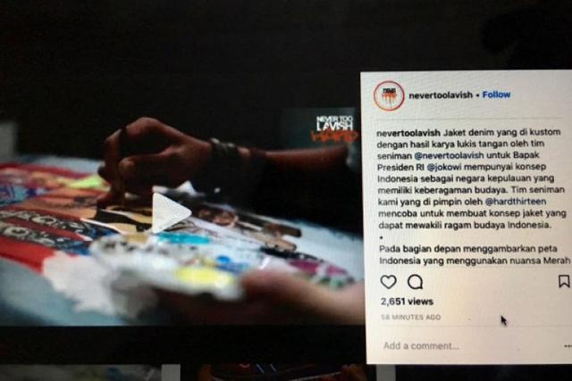 Kata pembuat jaket Jokowi soal komentar miring di media sosial