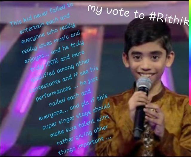 super singer junior vote