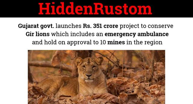 Gujarat takes a step for lion conservation
