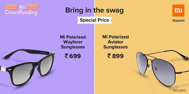 e4b659402deb xiaomi launched Mi Polarized Sunglasses in India available in Special  prices in Crowdfunding.