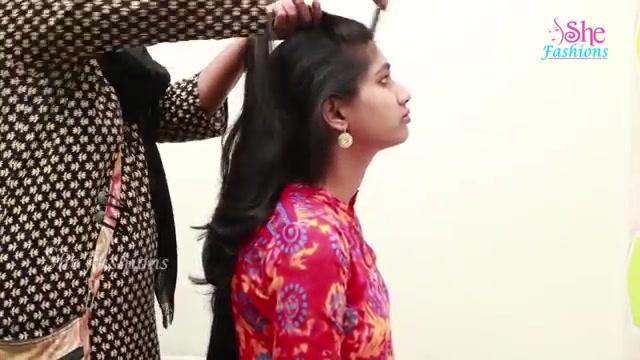 Flower Bun Hairstyle For Girls Cute
