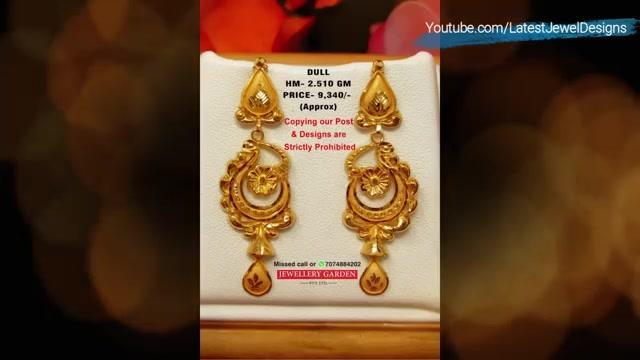 💎ज्वेलरी Latest Gold Earrings Designs With Weight And Price 4 Gram Gold Earrings Designs Helo