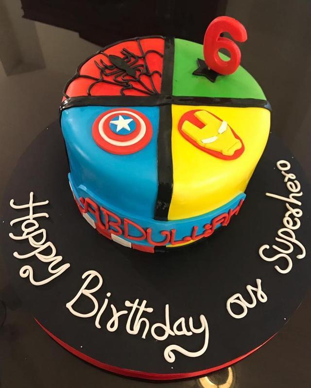 Superhero Birthday Cake For A SUPER 6 Year Old Boy Abdullah