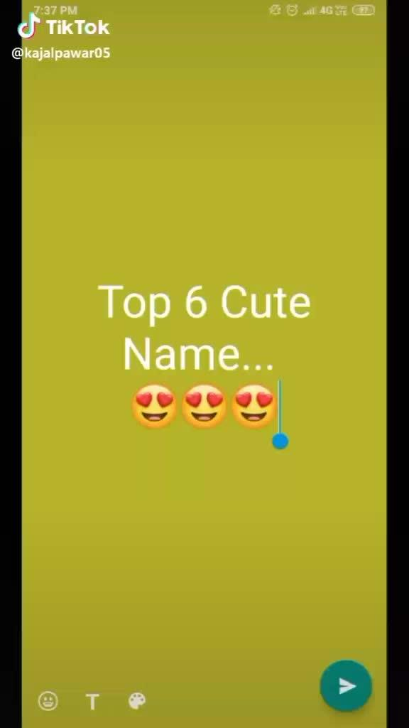 Status Top 6 Cute Name K Valo Ka To Sabse Best He