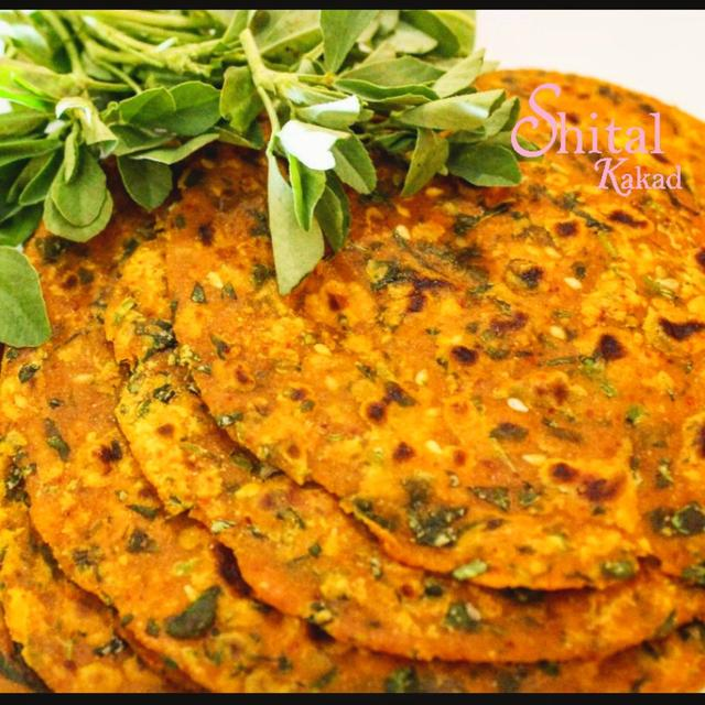 Celebrating IndianBreadsDay today with making the Famous Delicious Gujarat Flatbread THEPLA with BAJRI flour & fresh Fenugreek leaves..