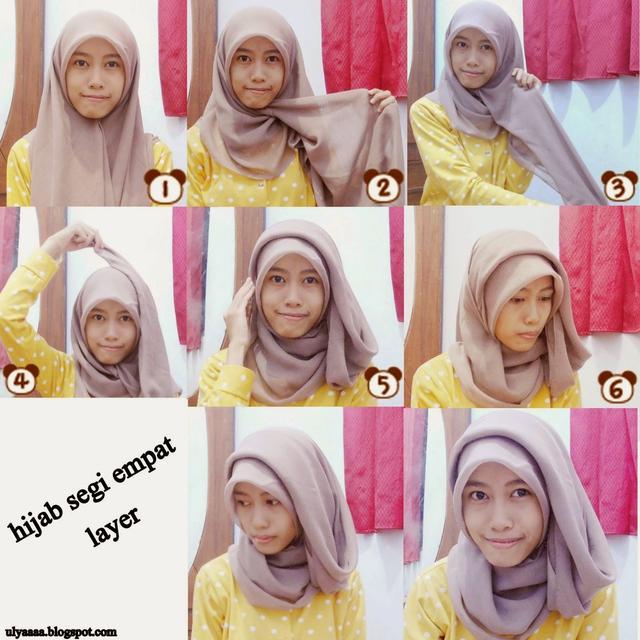 Bisa Kamu Ikuti Nih 7 Tutorial Hijab Segi Empat Simple Tanpa Ciput Beserta Gambarnya