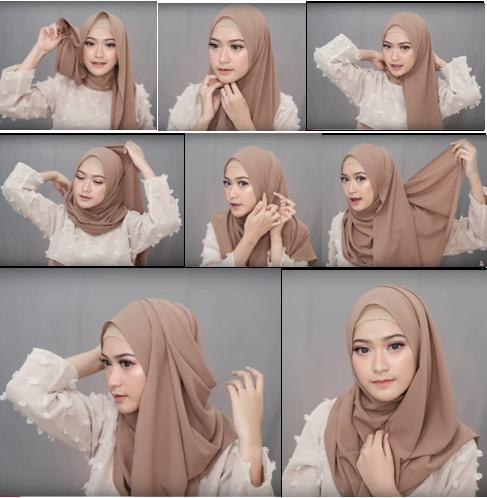Tutorial Hijab Pashmina Simple Menutup Dada Hijabfest