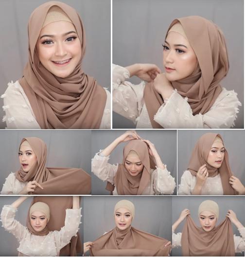 Bisa Dicontek Nih 7 Style Tutorial Hijab Pashmina Yang Menutupi Dada