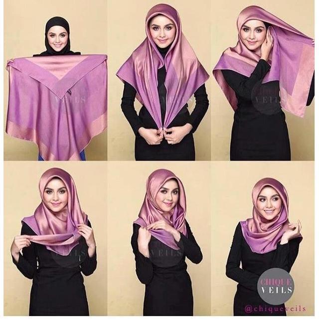 Cocok Buat Yang Baru Belajar 6 Tutorial Hijab Segiempat Yang Mudah