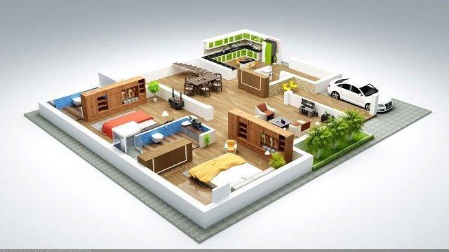 7 Desain Denah Rumah Minimalis 2 Kamar Nyaman Hemat Tempat