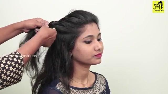 Easy Side Puff Hairstyle In 5 Minutes
