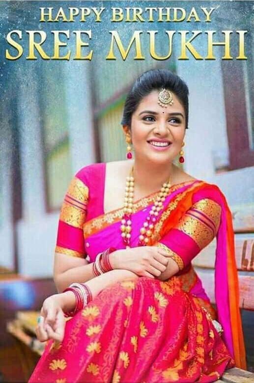 SreeMukhi   #SreeMukhi many more happy birthday dear   Helo